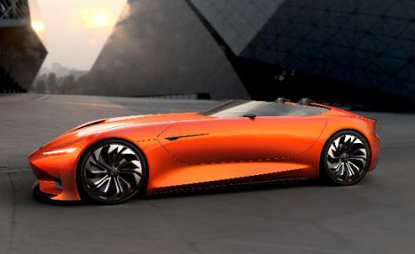 Karma SC1 Vision概念车?#25925;?#26032;豪华  首将战机设?#35780;?#24565;引入行业