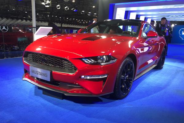 广州车展福特展馆 新车锐际亮相、Mustang黑曜魅影特别版上市