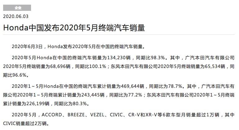 凌派/UR-V即将焕新上市,本田五月销量又交靓亮成绩单