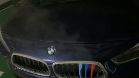 宝马-X2提车三天,停车熄火,引擎盖处冒大量白烟