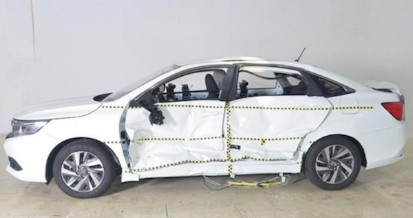 安全性能堪忧 广汽本田凌派C-IASI碰撞测试严重不合格