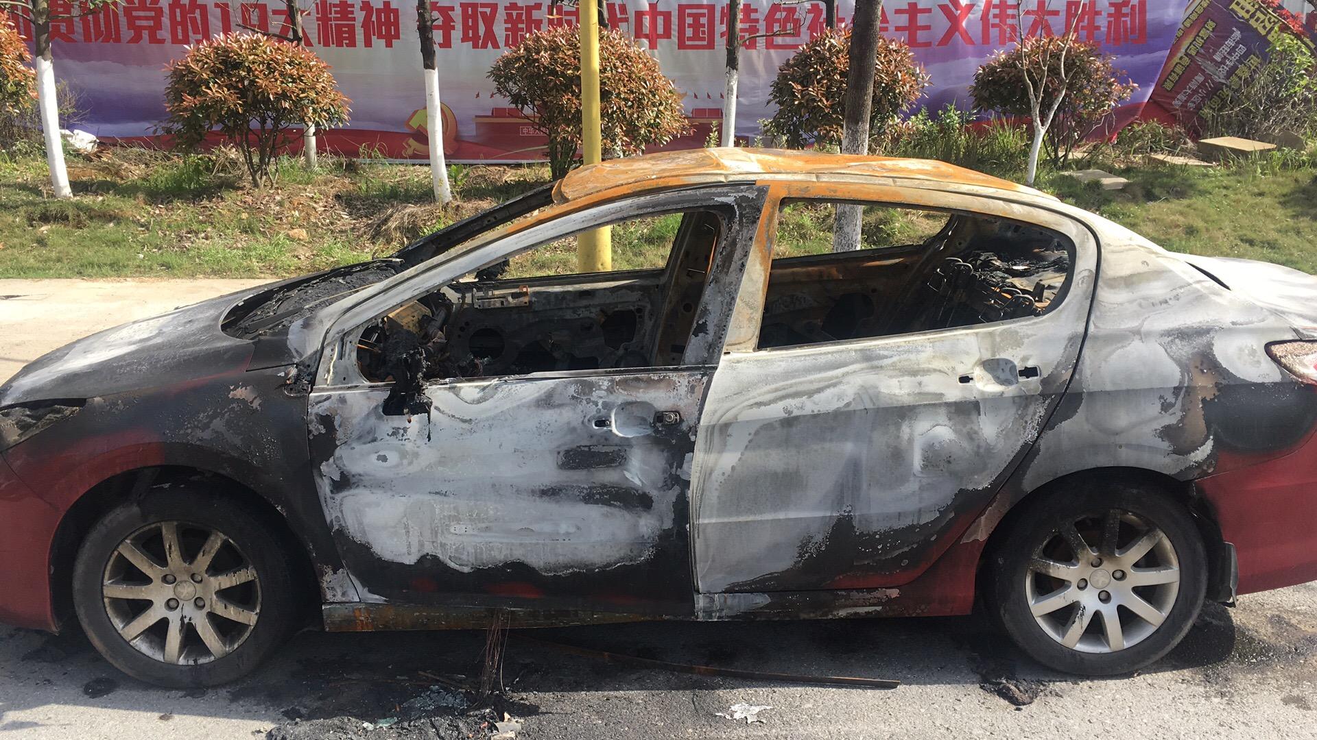 东风标致-标致308 空调按钮故障短路,导致车辆自燃