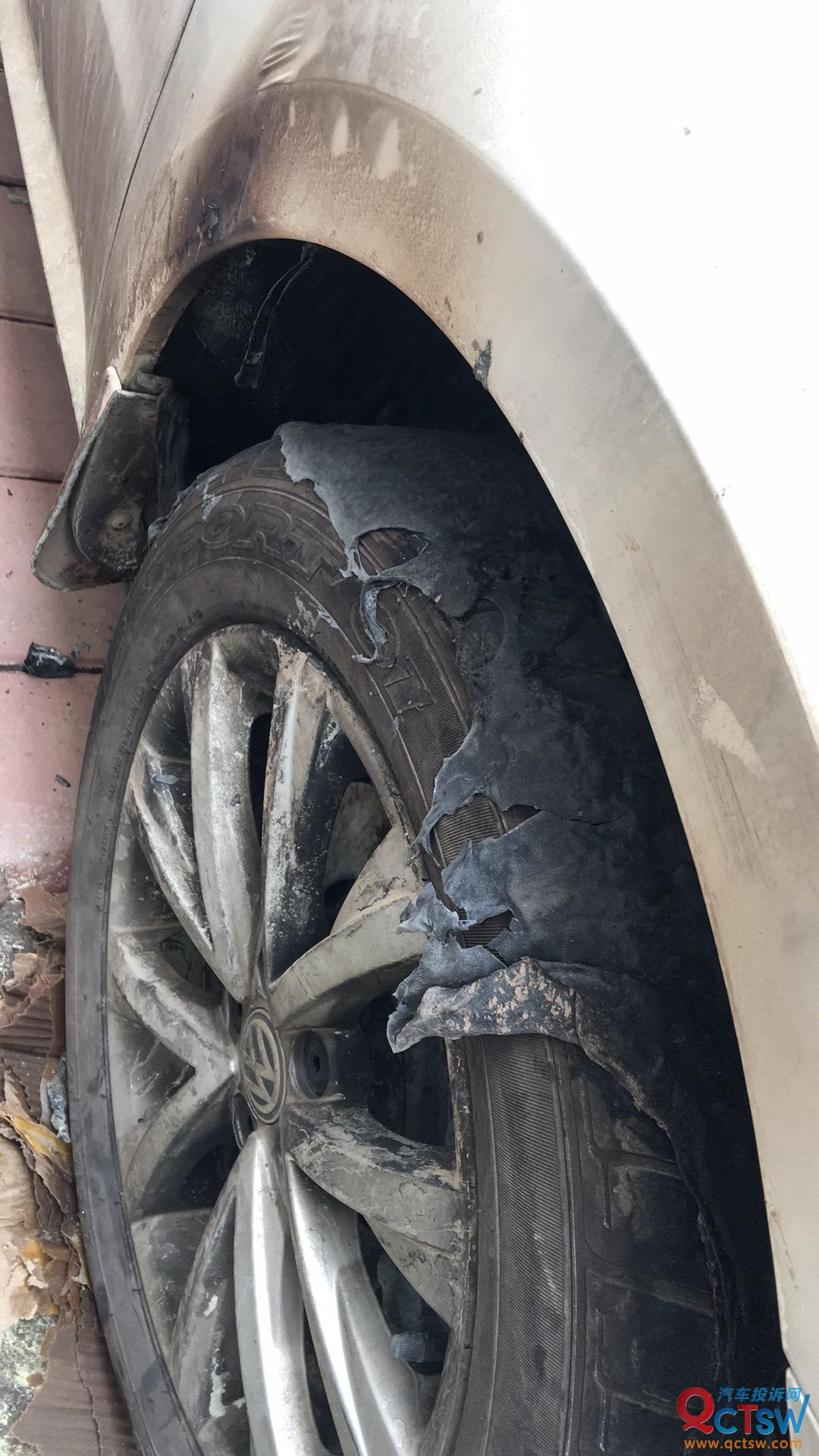 大众-朗逸 车辆在静置状态下自燃,厂家拒绝承认车辆质量问题