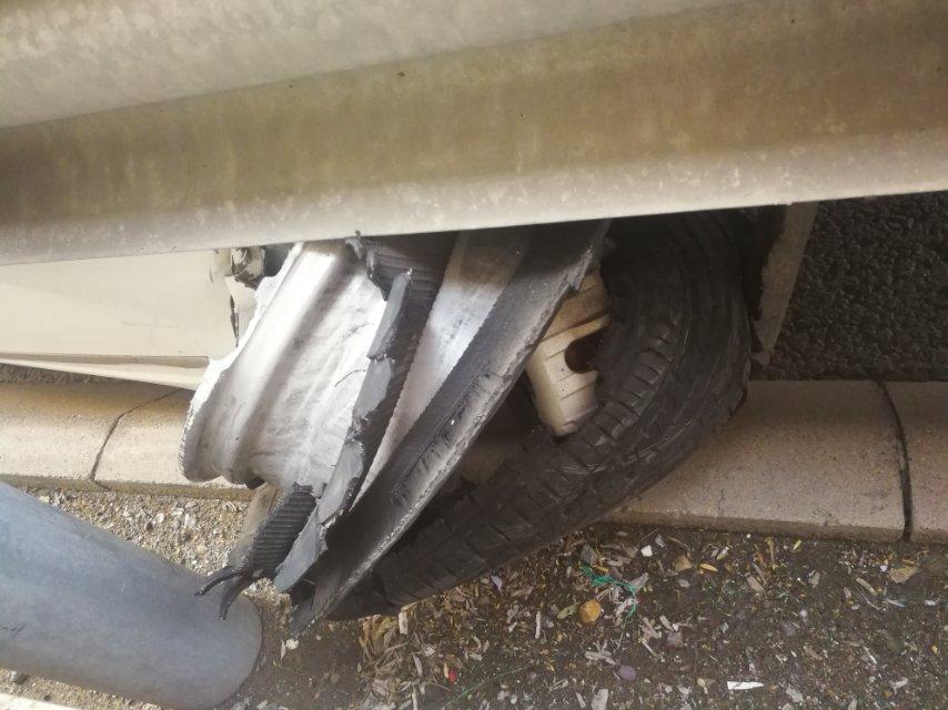 长安福特-福睿斯 车辆在高速上失控侧滑