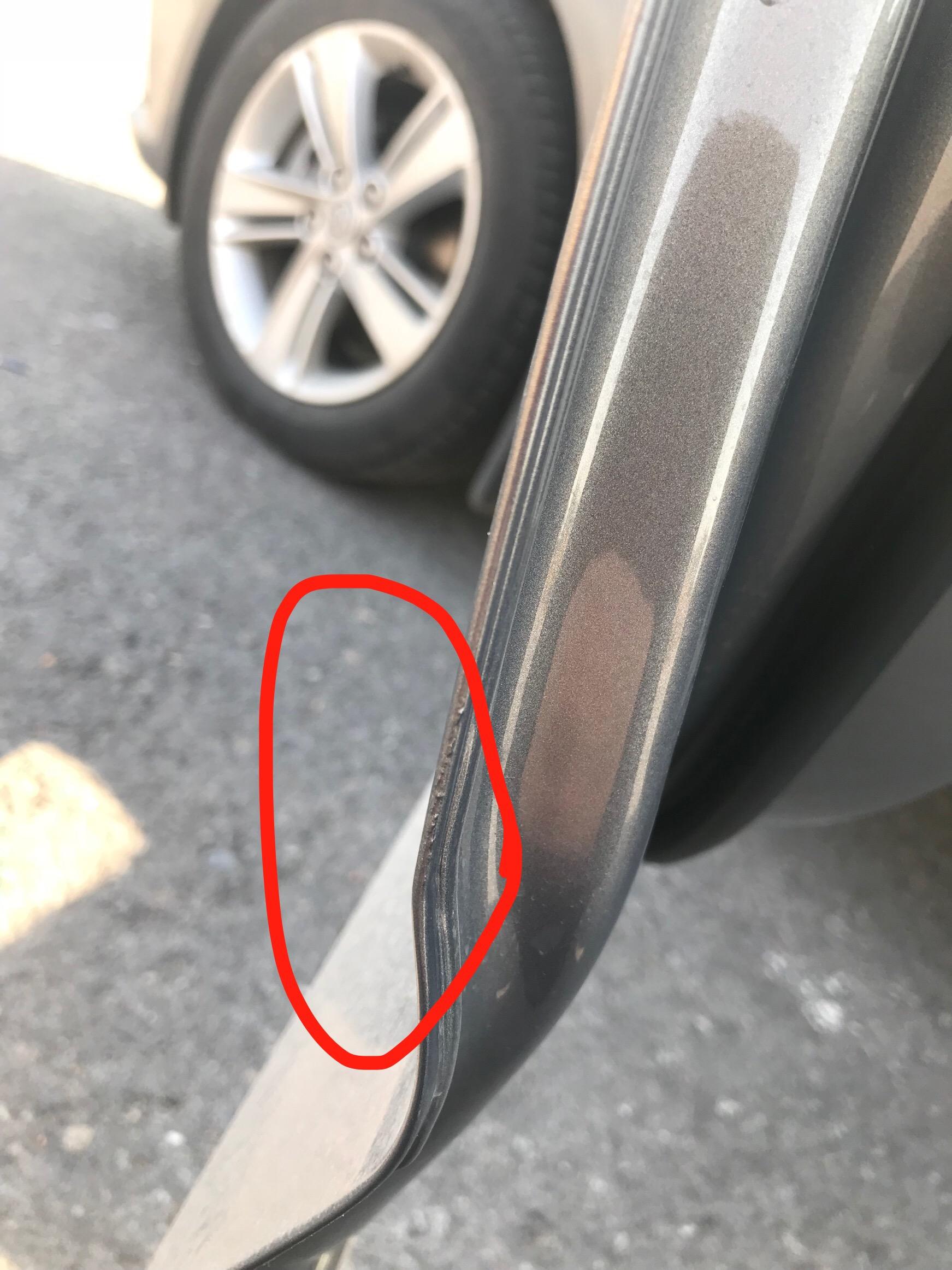上汽通用-君威 新车车门边缘出现补漆粗糙等现象