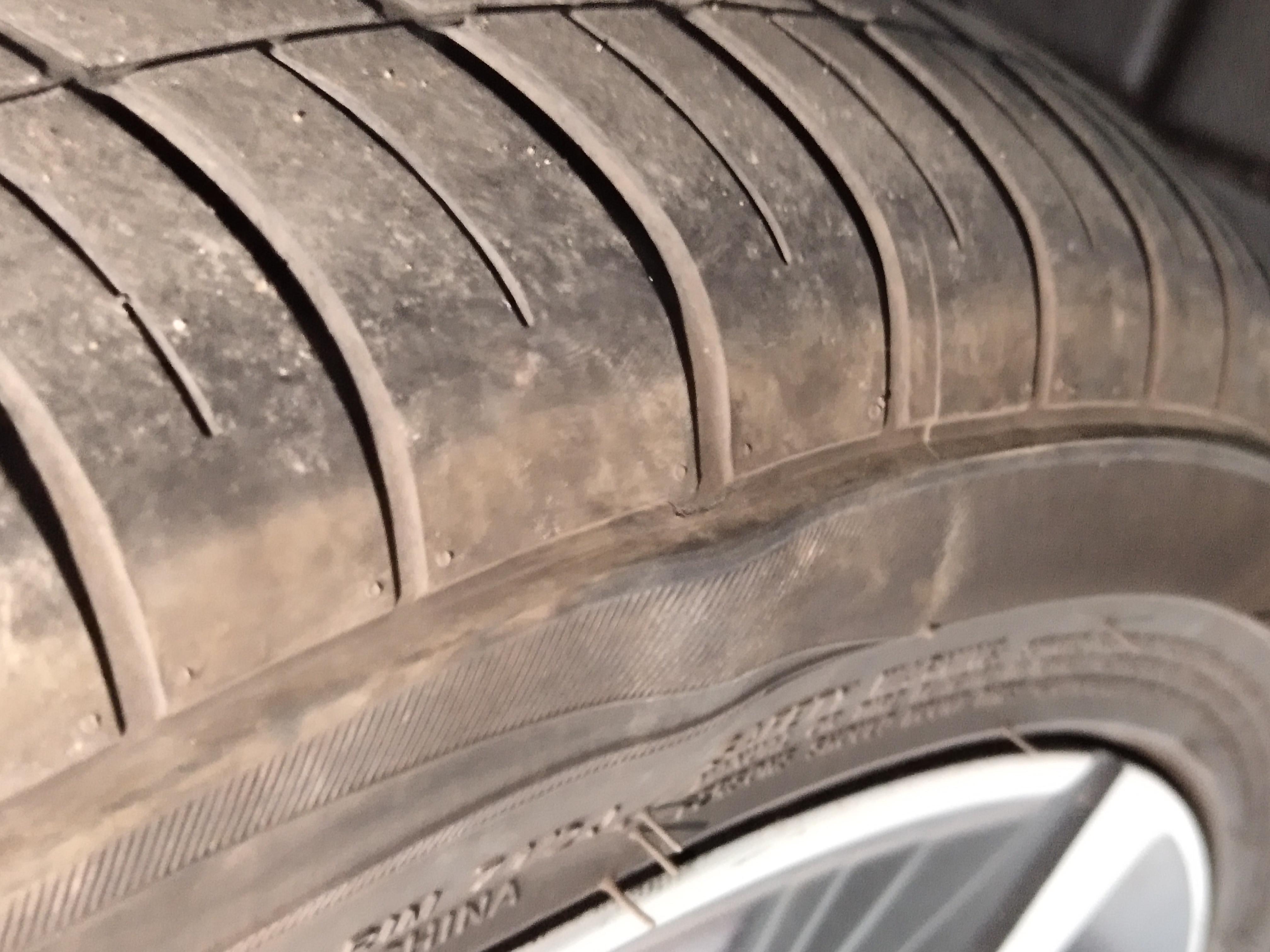 吉利汽车-帝豪GSe 新车轮胎就鼓包