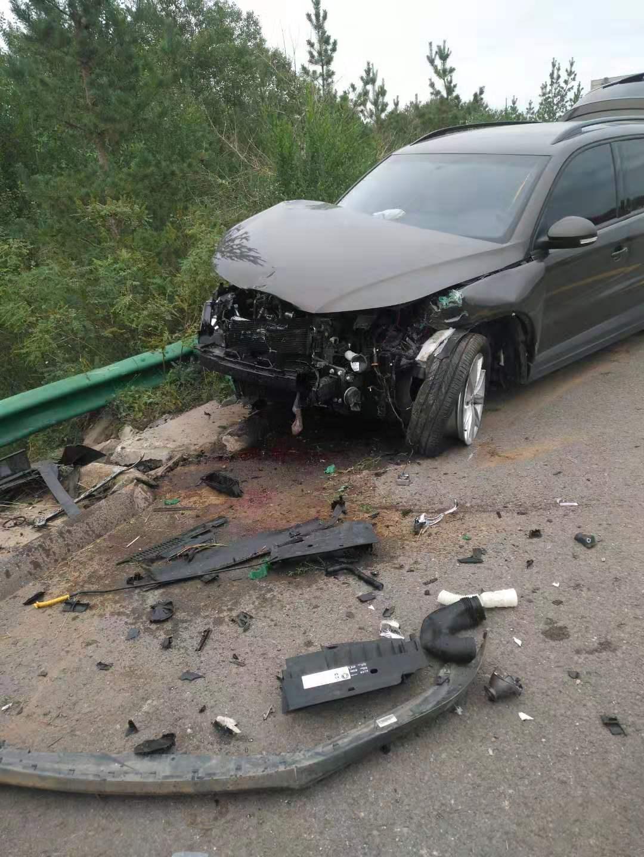 大众-途观 车辆经过严重撞击后气囊未弹出