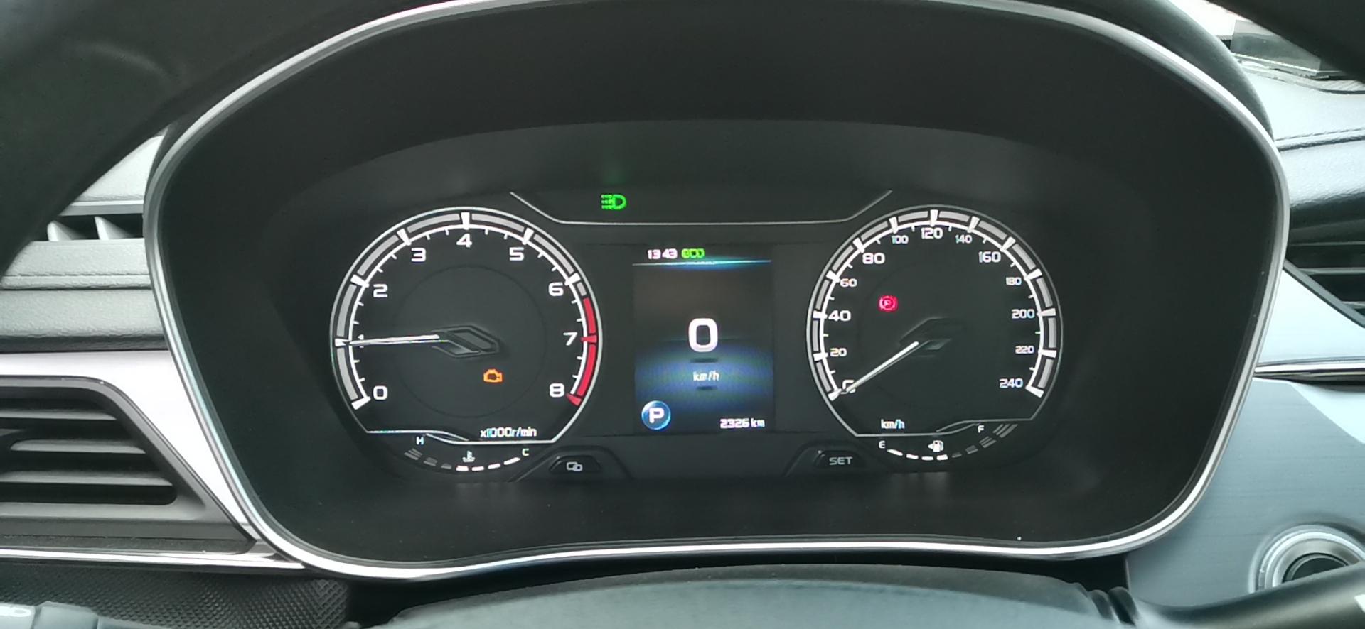 吉利汽车-缤瑞 怠速不稳 双闪异常 发动机故障灯亮起