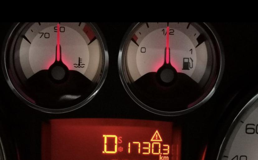 標致-標致308 高速正常行駛中突然失速,儀表D檔位置顯示S和危險報警
